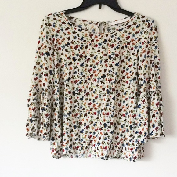 986aa24a Zara Tops | Trafaluc Collection Floral Topbell Sleeves | Poshmark
